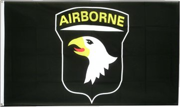101st Airborne Black 3x5 Polyester Flag