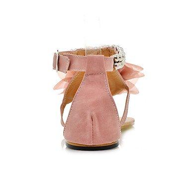 LvYuan Mujer-Tacón Plano-Otro-Sandalias-Exterior Vestido Informal-PU-Azul Rosa Beige Pink