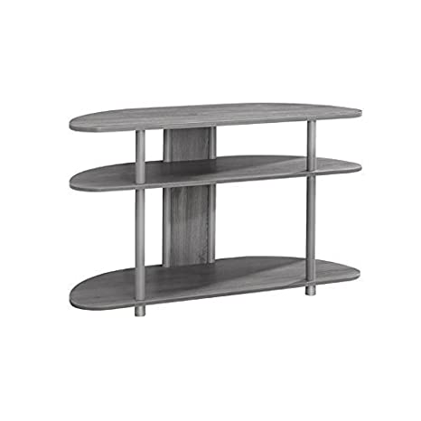 Amazon.com: Monarch TV Stand, Madera, gris: Kitchen & Dining