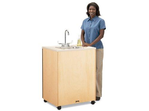 Jonti-Craft 1361JC Birch Clean Hands Helper Stainless Steel Sink, 24