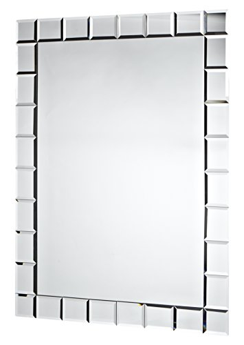- Abbott Collection Vision Long Rectangular Mirror w/ Checked Border, Small