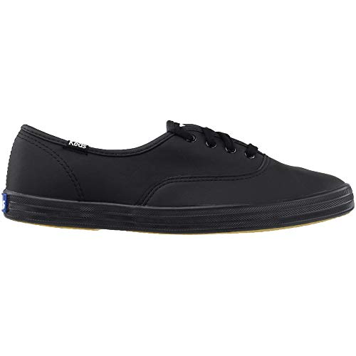Keds Women's Champion Black/Black Leather Shoes Wide Width women's 12 by Keds (Image #2)