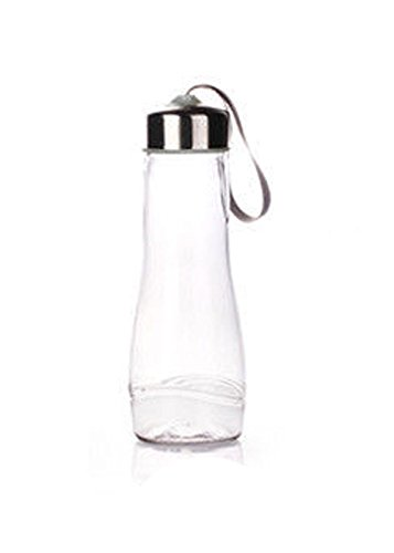 Gray Portable Outdoor Sport Camping Cycling Travel Plastic Fruit Juice Water Bottle