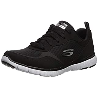 Skechers Women's Flex Appeal 3.0-go Forward Sneaker, BKW, 8.5 W US