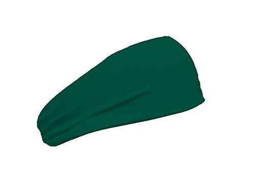 Bondi Band Solid Moisture Wicking Headband, Hunter Green, 3