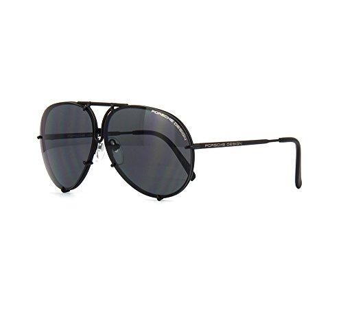 PORSCHE DESIGN P8478 D Aviator Sunglasses Black Matte Frame Size 69 + Extra ()