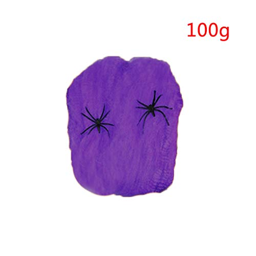 Halloween Stretchy Spider Web Horror DIY Cobweb Prop for Halloween Scary Party Scene Decoration]()