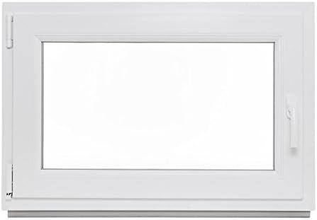 Lagerware Fenster Kunststoff 2-fach-Verglasung DIN links wei/ß BxH: 100 x 40 cm Kellerfenster