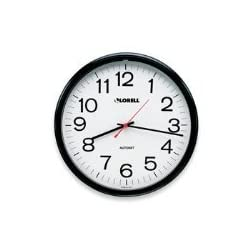 Lorell Wall Clock with Arabic Numerals, 13-1/4-Inch, White Dial/Black Frame