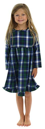 Girl's Green Plaid Christmas Nightgown