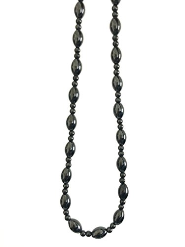 Acupress Hematite Magnetic Stone Nacklace Therapy Healing Jewelry in Multi Styles. (Type A)