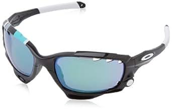 Oakley Racing Jacket Non-Polarized Iridium Oval Sunglasses,Polished Black,62 mm