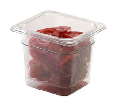 Cambro 63CLRCW135 Camwear Polycarbonate Colander Food Pan 1/6 size, 3'' deep, 6 Pack