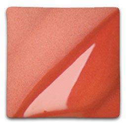 AMACO Velvet Lead-Free Non-Toxic Semi-Translucent Underglaze, 1 pt Jar, Light Red V-383 (Red Velvet Underglaze)