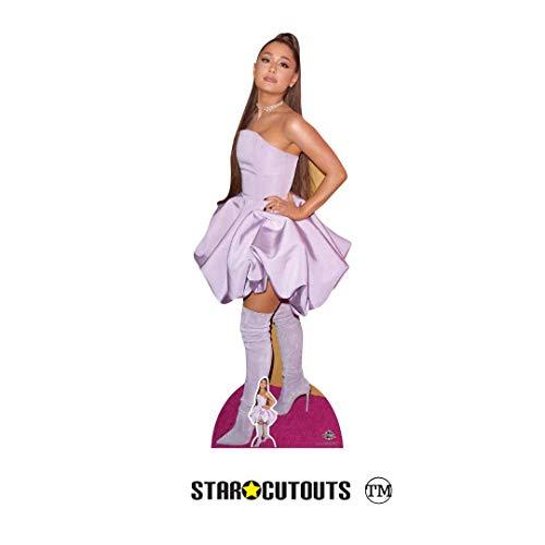 Star Cutouts- Ariana Grande Lifesize Carton recortado cantautor estadounidense altura 163 cm viene con mini escritorio standee, Multicolor (CS780)