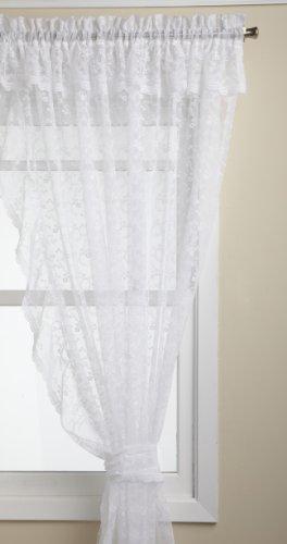 Lorraine Home Fashions Priscilla 130-inch x 84-inch Ruffled Pair, White