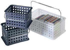 InterDesign 46200 Small Frosted Basket - Frosted Clear Totes