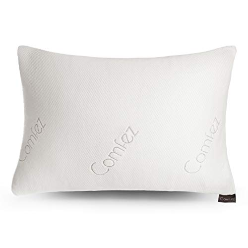 Comfez Shredded Memory Foam Bamboo Pillow - Adjustable Thickness (20 x 26 Standard Size)