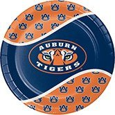 Pack of 96 NCAA Auburn Tigers Round Tailgate Party Paper Dinner Plates 8.75