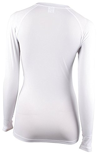 Xprin A100 Series Women's Long Sleeve Cool Base Layer Compression Shirt Sports Wear (S, A102 WHITE) by XPRIN (Image #4)