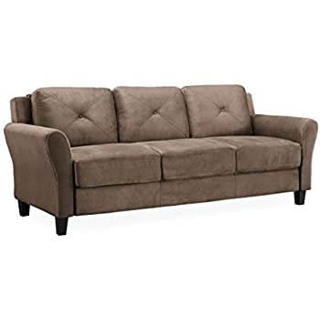 Amazon.com: LifeStyle Solutions Harrington Sofa in Brown ...