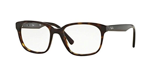Ray-Ban Men's RX5340 Eyeglasses Shiny Havana - Plastic Ban Frame Glasses Ray