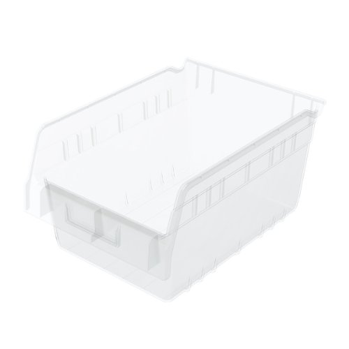 Akro-Mils 30080 12-Inch L by 8-Inch W by 6-Inch H Clear ShelfMax Plastic Nesting Shelf Bin Box, (12 Assorted Bins)