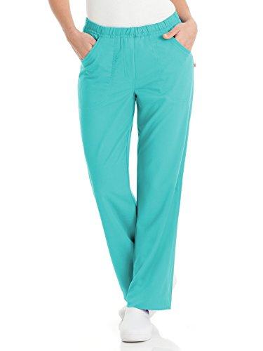 - Urbane Ultimate 9306 Alexis Comfort Elastic Waist Pant Turquoise XL