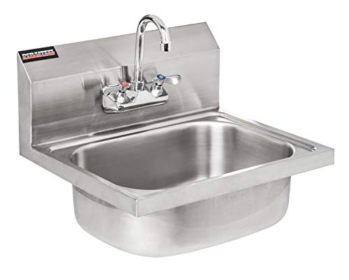 DuraSteel Stainless Steel Hand Sink with 17