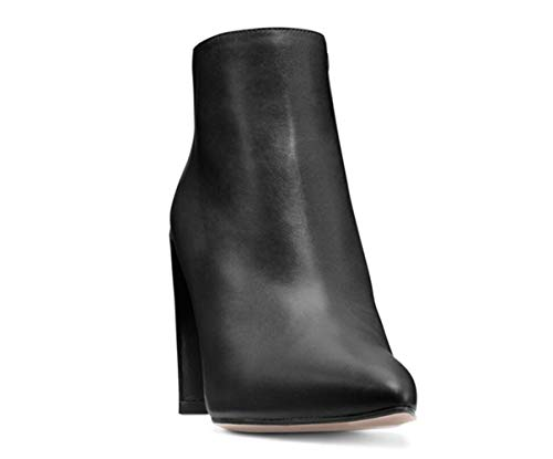 Model High Shiney Black Heel Boots Shoes Thick Pointed Shoes Dress Shoes Ankle Womens Working 0xrS0wZ