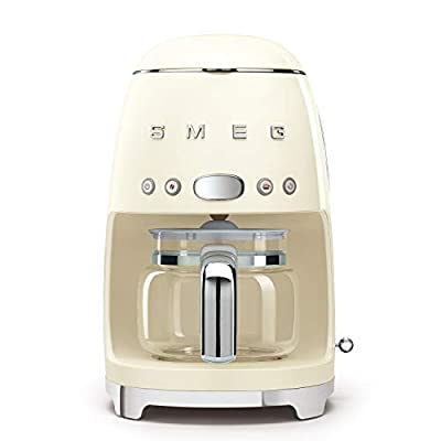 Smeg 1950's Retro Style 10 Cup Programmable Coffee Maker Machine by Smeg
