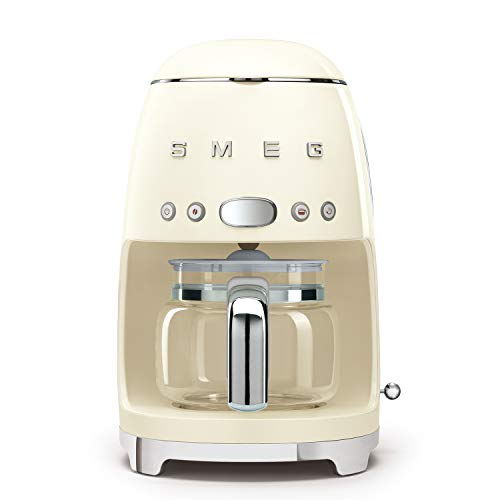 Smeg Retro Style Coffee Maker Machine, 17.3 x 12.8 x 11.3, Cream