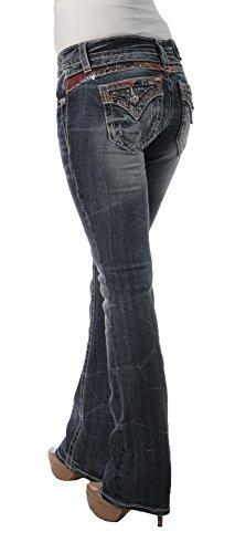 Miss Me Women's Embellished Slim Boot Cut, Medium Blue,26 by Miss Me (Image #3)