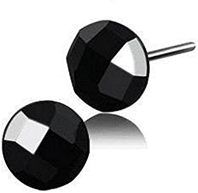YAZILIND 925 esterlina plata simple estilo pequeño ágata negro hipoalergénicos Espárragos aretes de regalo de la mujer joyería