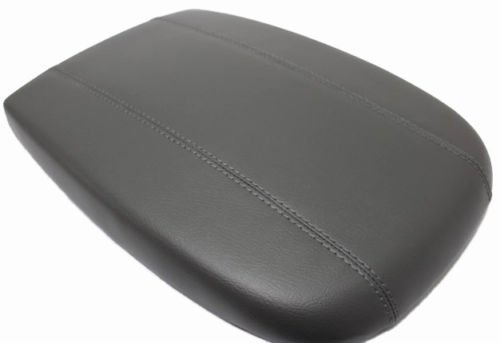 Fits 1998-2002 Lincoln Navigator Real Gray Leather Center Console Lid Armrest Cover Cover (Skin Only) ()