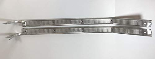 Live Fast Supply Company Pair (2) Truck Door Sill Plates for 1967-1972 Ford Pickup Truck (1967 Ford Pickup)