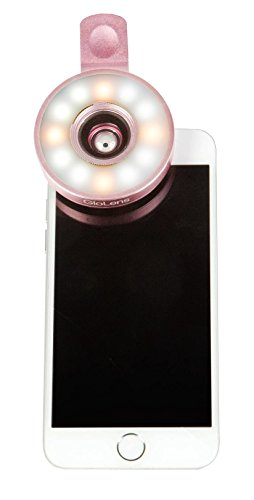 - Fashionit GloLens-Wide Angle Illuminating Cell Phone Lens (Rose Gold)