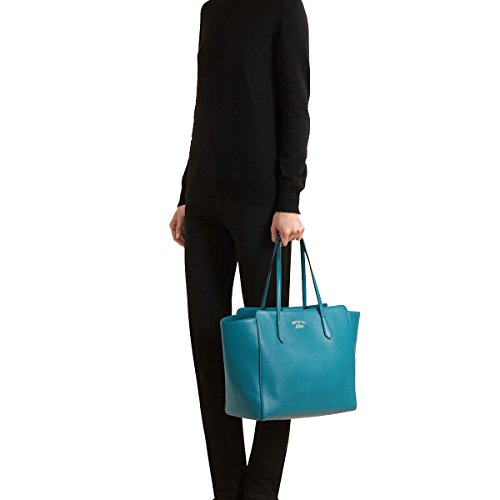 6b2eac202a2 Gucci Swing Blue Leather Shoulder Tote Handbag 354397 – Anna s ...