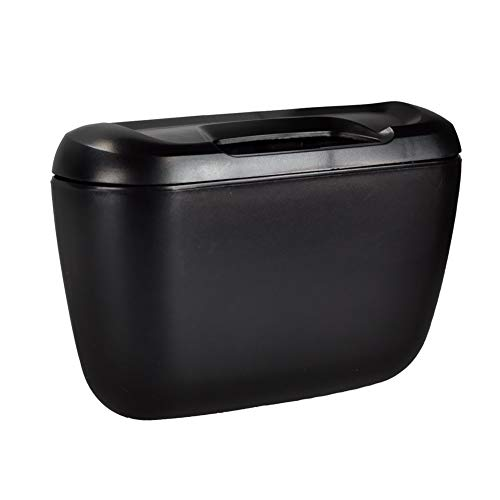Waste Bins - Phfu Wholesale Black Tone Plastic Compact Trash Can Garbage Bin - Buddy Locking Lock Combo Compartment Diapers Kids Sticker Rubber Gallon Pull Dorm Heavy Carrier Rectangle Room Whee ()