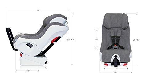Clek Foonf Rigid Latch Convertible Baby and Toddler Car Seat, Rear and Forward Facing with Anti Rebound Bar, Shadow 2018