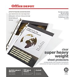 Office Depot Super Heavyweight Sheet Protectors, Pack Of 50, (Super Heavyweight Sheet Protector)
