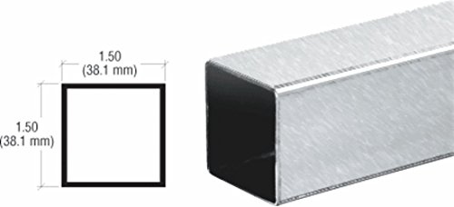 Stainless Steel Sneeze Guard (CRL Brushed Stainless Partition Post Sneeze Guard Square Tubing - 236 in Long)