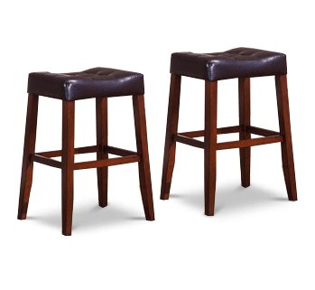2 29 Saddle Back Espresso Bar Stools Espresso Seat Cherry Legs