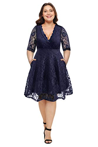 LECCECA Plus Size Dresses 2019