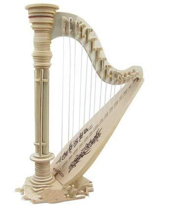 Lannmart Wooden 3D Puzzle Building Building Toys Piano Guita Jazz Drum Kit Musical Instrument Scale Model Miniature (Kits Drum Download)