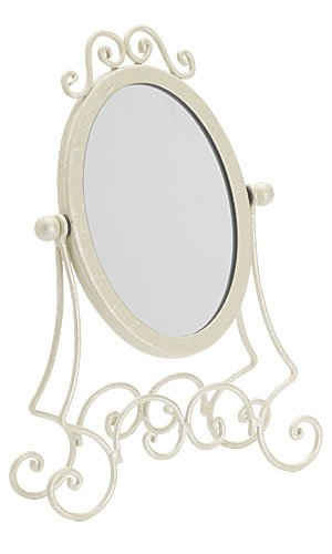 """Boutique Countertop Mirror - Ivory, Ivory Finish Countertop Sized 11 ½"""" Total Height,give Your Customers a Reason to Buy When They See Their Reflection in Our Designer Boutique Mirrors! Perfect for Counter Tops, Next to a Jewelry Display, or Aside a Make up Counter! Looks Best Combined with Any of Our Pieces From the Ivory Collection. Overall Height Is 11 ½"""". Mirror Is 4"""" X 6"""""""
