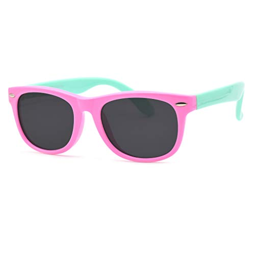 Juslink Toddler Sunglasses, 100% UV Proof Flexible Boys Girl Baby and Kids Sunglasses Age 2 to ()
