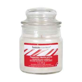 Luminessence Glass Jar Scented Candles, MADE IN USA! (1, Peppermint)