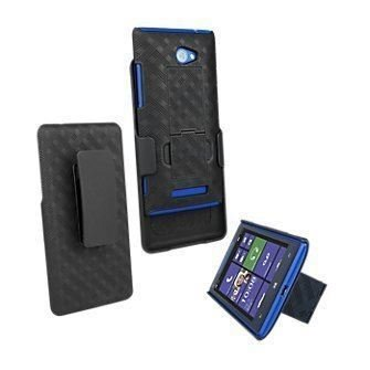 HTC 6990 VERIZON Oem NEW HTC Windows Phone 8X Shell Combo W/holster & Kickstand NON RETAIL PACKAGE (Htc 8x Verizon)
