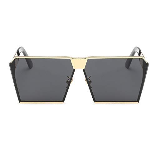 Soleil Et en UV400 Femmes Protection Lunettes goldframegray Option Hommes De Rétro Multicolore UV pour 54XBRfq